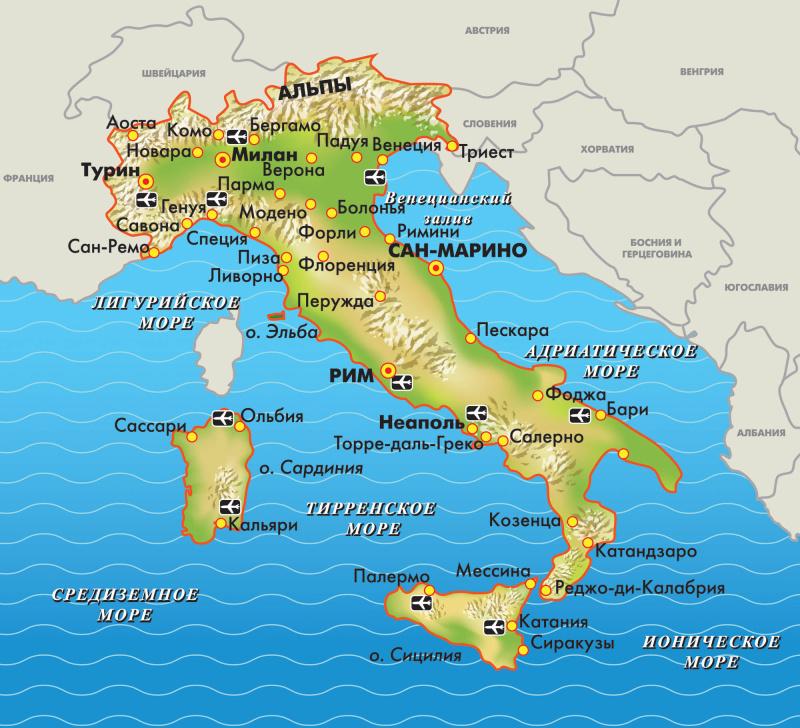 картинка венеция на карте италии расположение въезда